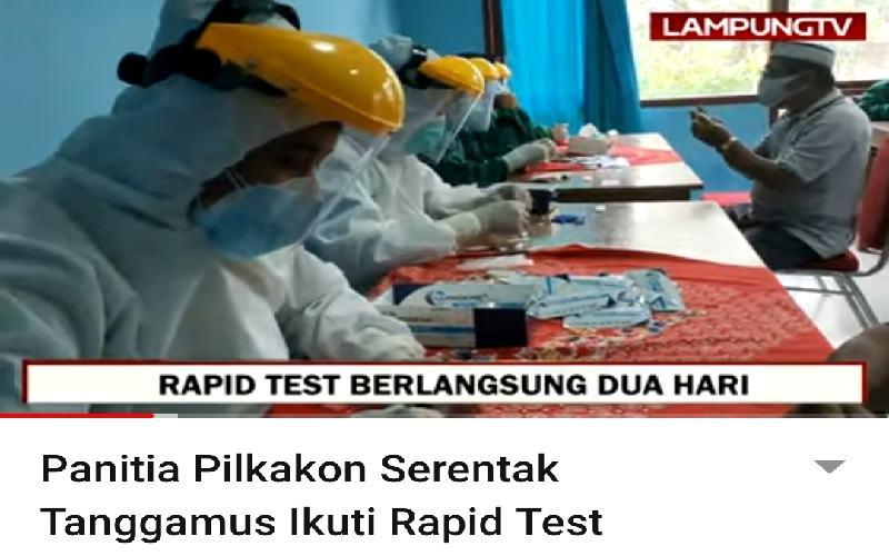 Panitia Pilkakon Tanggamus di Rapid Test