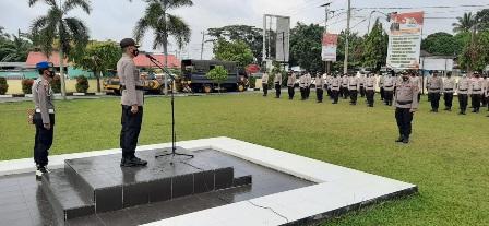 Lepas 100 Personel Pengamanan Pilkada, Kapolres Ingatkan Patuhi Prokes