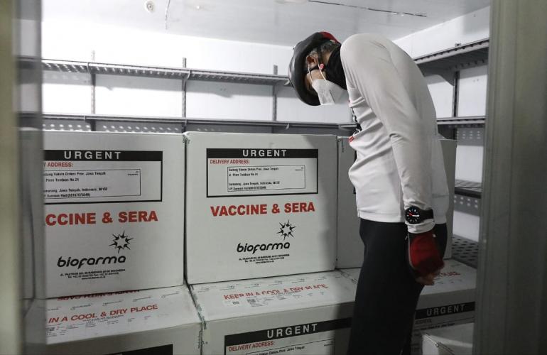 62.560 Vaksin Covid-19 Tiba di Jateng, 14 Januari Mulai Vaksinasi