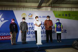 """Sentra Vaksinasi Indonesia Bangkit""XL Axiata – UI – RSUI Gelar Sentra Vaksinasi Drive Thru Pertama di Depok"
