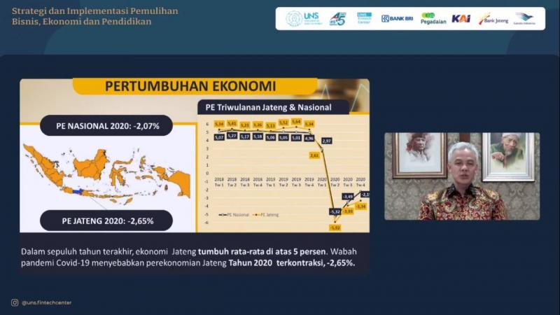 Gubernur Jawa Tengah Ajak Mahasiswa UNS Ikut Berkontribusi Pulihkan Ekonomi Nasional