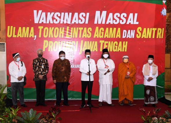 Terapkan Protokol Kesehatan di Vaksinasi Ulama dan Lintas Agama Jawa Tengah