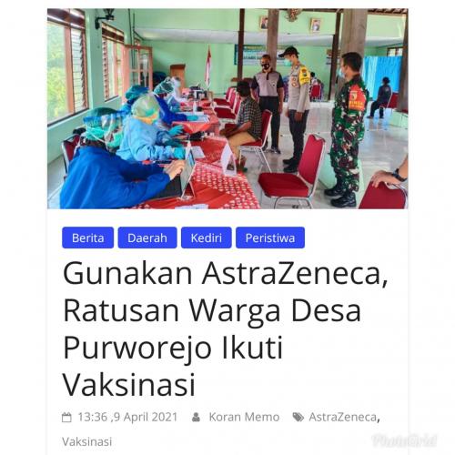 Gunakan AstraZeneca, Ratusan Warga Desa Purworejo Ikuti Vaksinas