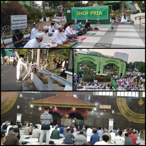 Salat Ied Masjid Raya Baiturrahman Semarang Berjalan Tertib Dan Taat Prokes