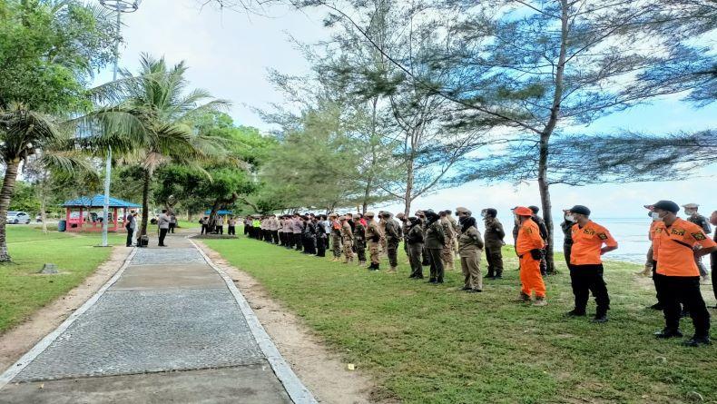 Cegah Covid-19, Tempat Wisata di Bangka Tengah Ditutup dan Dipasang Police Line