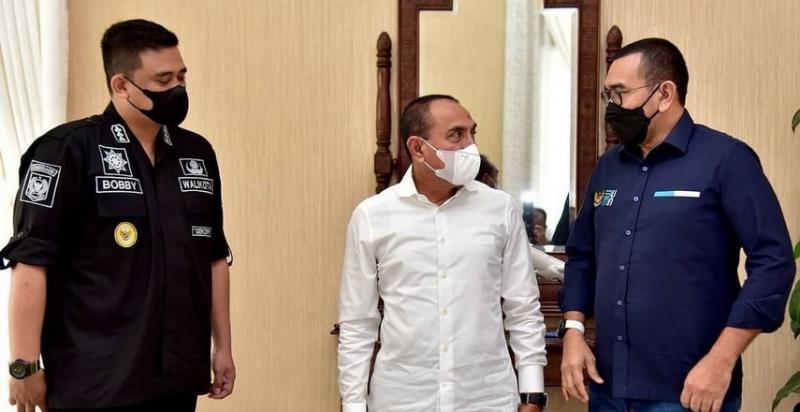 Temui Gubsu, Stafsus Menteri BUMN Bahas Vaksinasi Massal Terhadap Lansia