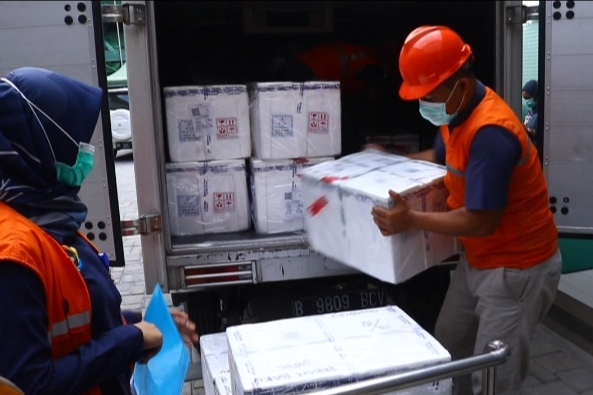 1.800 Dosis Vaksin Covid-19 Goro Tahap Pertama Tiba di Riau