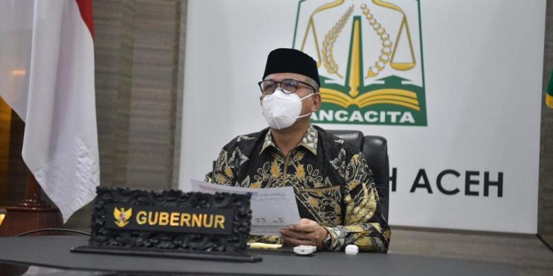 Positif Covid-19, Gubernur Aceh Tetap Beraktivitas Secara Daring