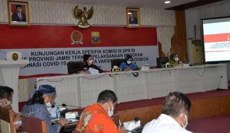 Komisi IX Kunjungi Provinsi Jambi Terkait Pelaksanaan Vaksinasi Covid-19