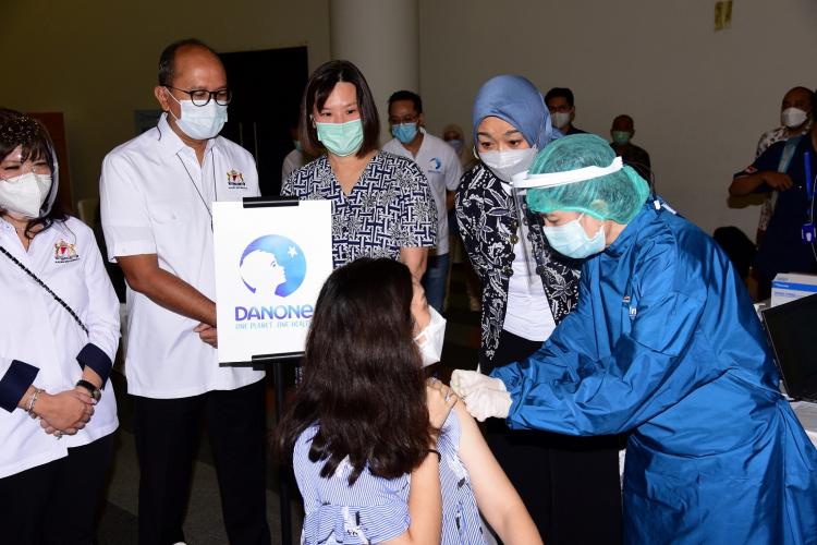 Danone Indonesia Vaksinasi Seluruh Karyawan
