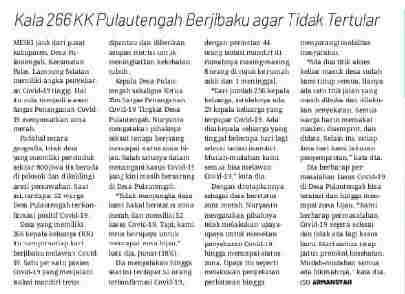 Kala 266 KK Pulau tengah Berjibaku Agar Tidak Tertular