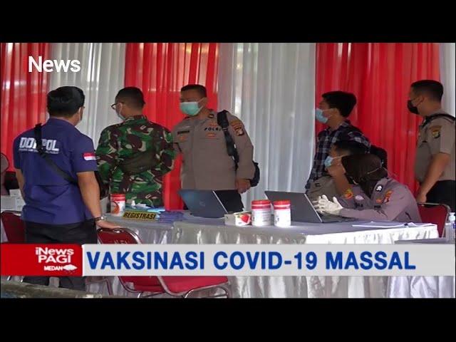 inews tv- Warga dan Pedagang Pasar Tanah Abang, Jakpus, Antusias Ikuti Vaksinasi