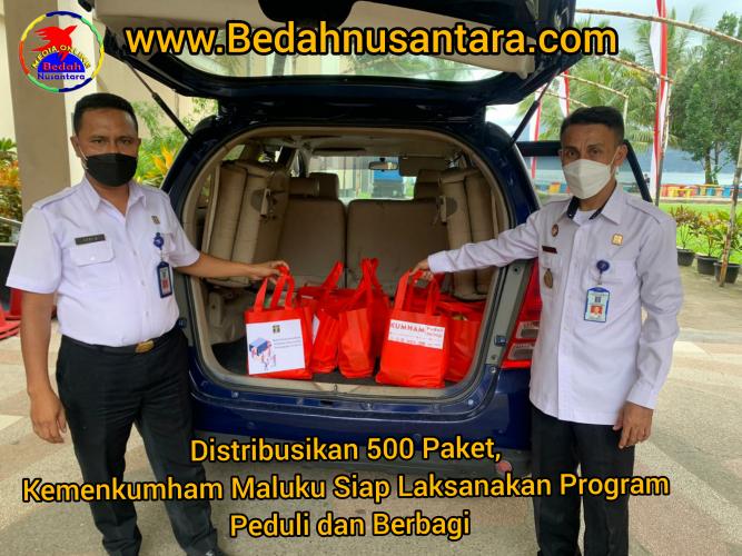 Distribusikan 500 Paket, Kemenkumham Maluku Siap Laksanakan Program Peduli dan Berbagi