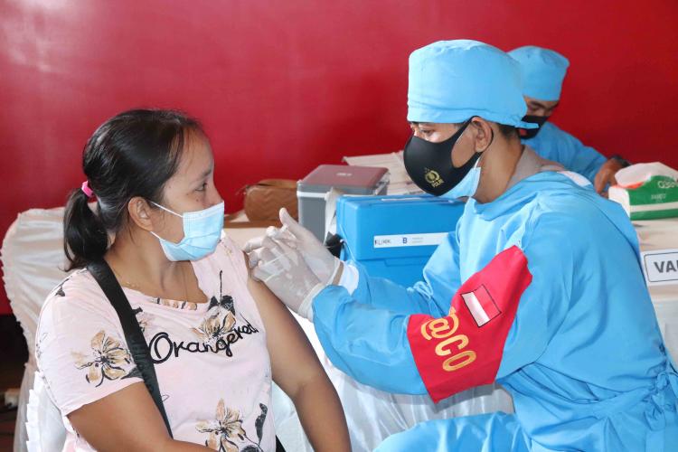 vaksinasi Dosis Pertama di Buleleng Mencapai 81.49 Persen