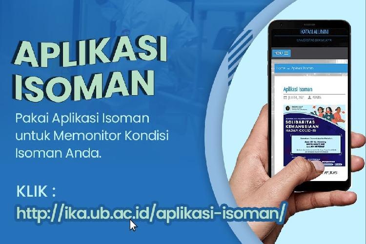 Satgas IKA UB Rilis Aplikasi ISOMAN Bantu Warga Isolasi Mandiri