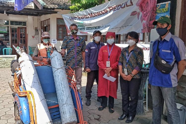 RSIA Mardi Waloeja Rampal Pinjamkan Tabung Gas Oksigen Gratis