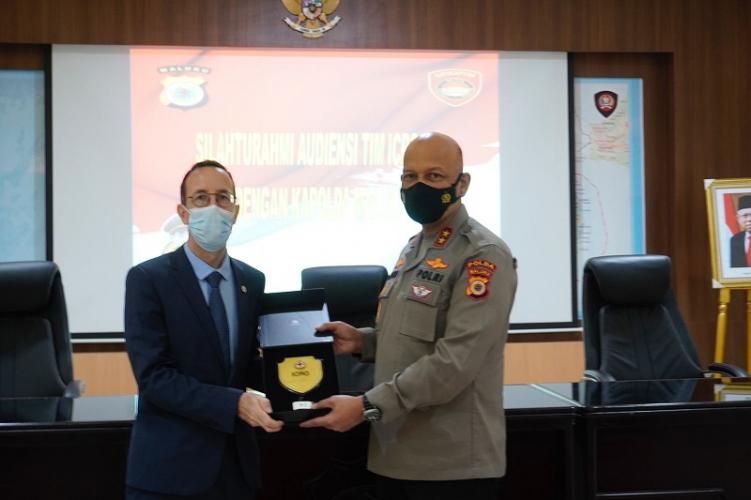 Tangani Covid-19, ICRC Silaturahmi dengan Kapolda Maluku