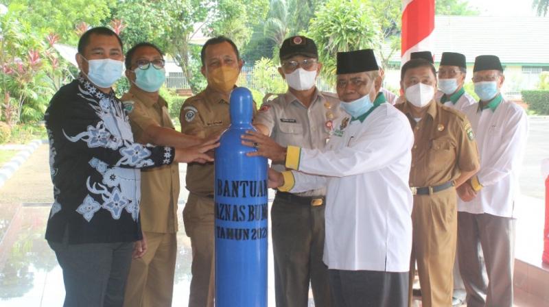 Ikut Bantu Korban Corona, BAZNAS Kabupaten Bungo Bantu 100 Tabung Oksigen untuk Pasien Covid-19