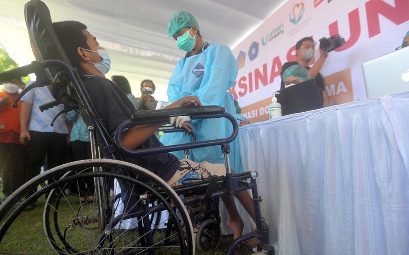 Vaksinasi Difabel di Bali