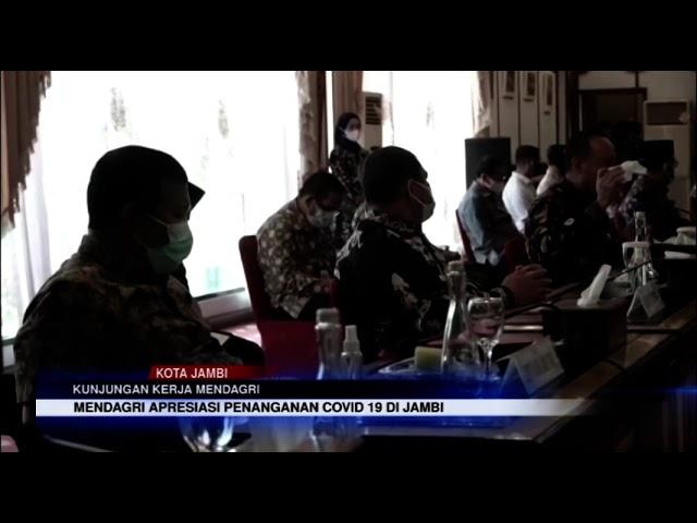 JAMBI TV - GUBERNUR DAN WAGUB SAMBUT KUNKER MENDAGRI TITO KARNAVIAN