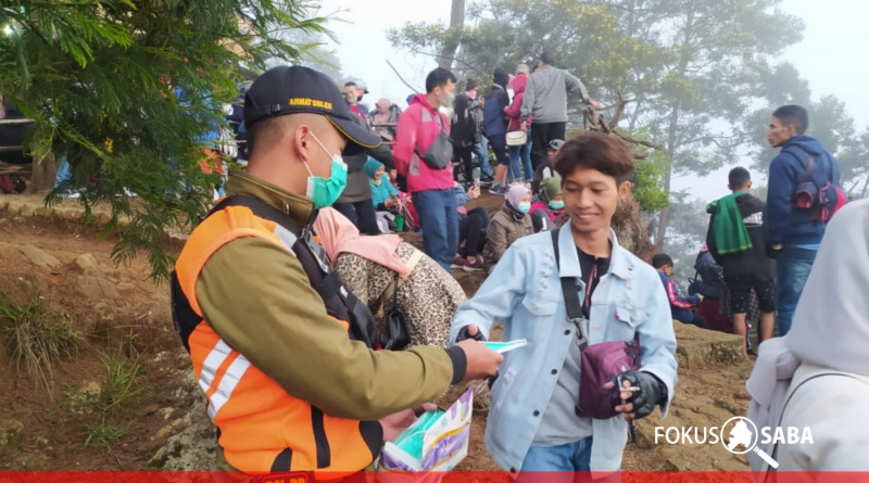 Lakukan Operasi PPKM di Kawasan Dieng, Petugas Temukan 200 Orang Tak Kenakan Masker