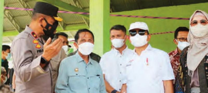 Wakapolda Gorontalo Tinjau Vaksinasi Bersama Menteri Bappenas