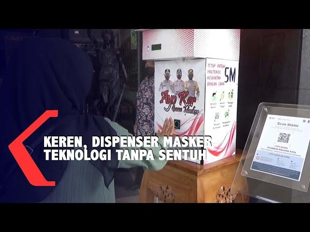 Dispenser Masker Berteknologi Tanpa Sentuh, Inovasi Mahasiswa dan Polresta Malang Kota