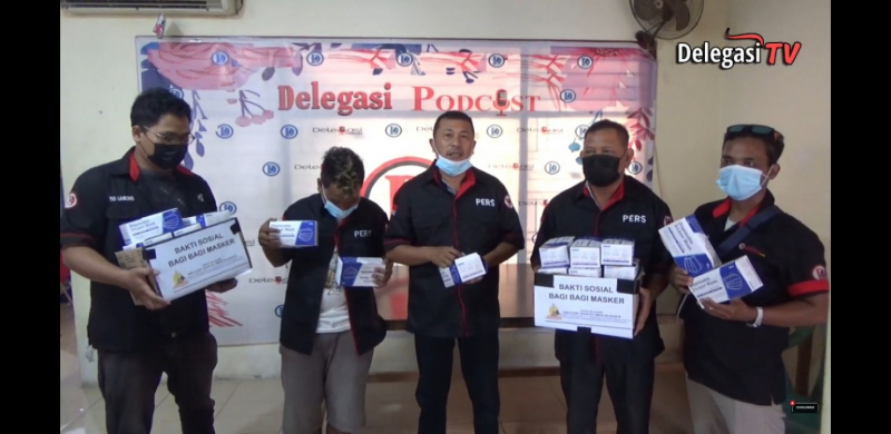 Media Delegasi Nusantara Aksi Langsung Prokes