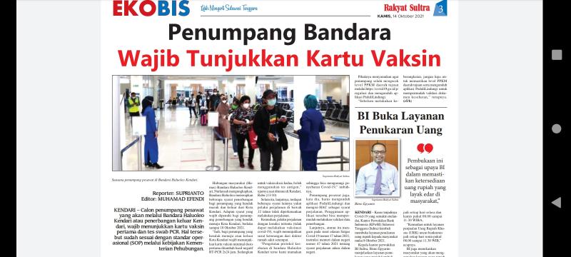 Penumpang Bandara Wajib Tunjukkan Kartu Vaksin